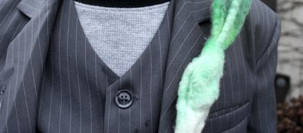 St. David's Day Craft: Felted Wool Leeks