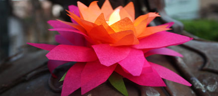 Lotus Lanterns for Wesak (Buddha Day)