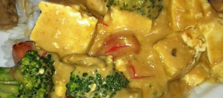 Wesak Recipe: Tofu and Vegetables with Peanut Sauce