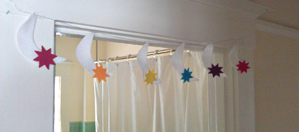 Ramadan Craft: Star and Moon Banner