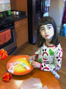 Jas making spring rolls copy
