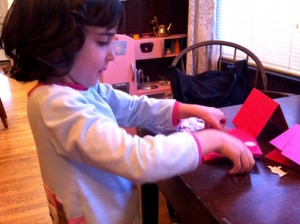 lila making valentine&#039;s