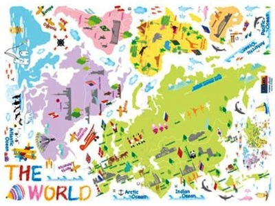 Incultureparent 10 best world maps for your childrens room 1 gumiabroncs Image collections