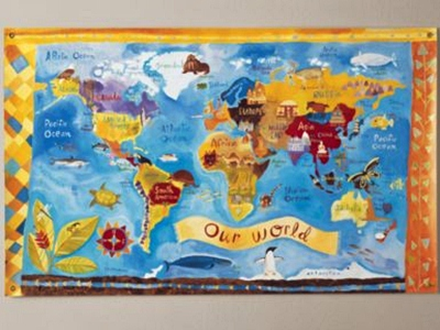 10 Best World Maps for Your Children\'s Room | InCultureParent