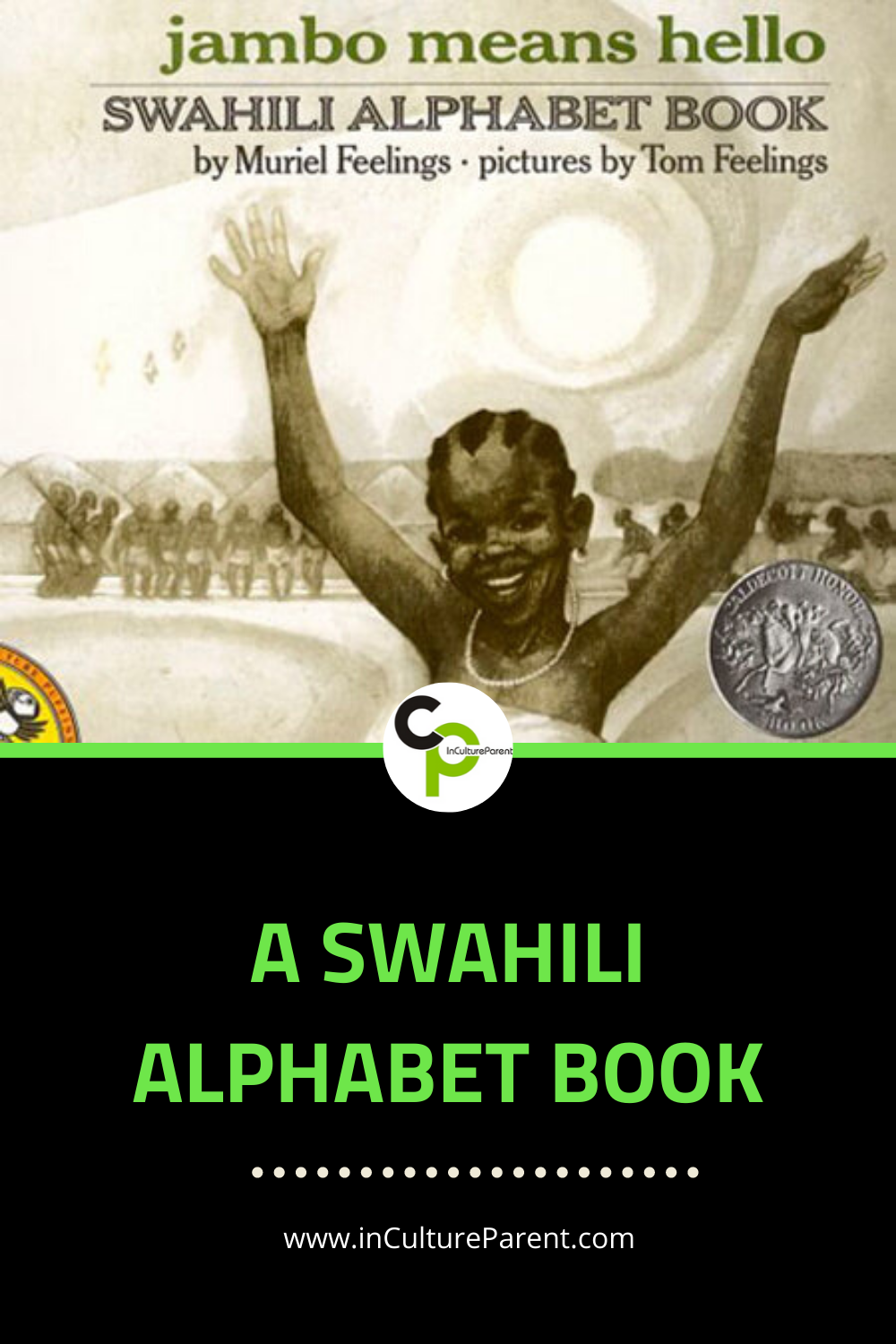 A Swahili Alphabet Book Pin