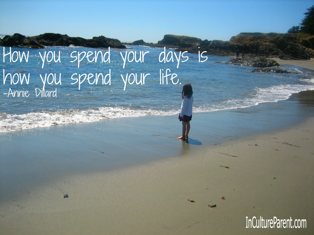 How you spend your days is how you spend