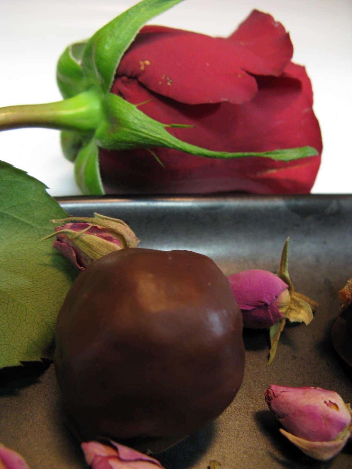 chocolate-covered truffles