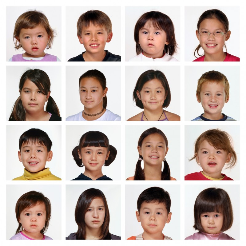 portraits of half Chinese kids