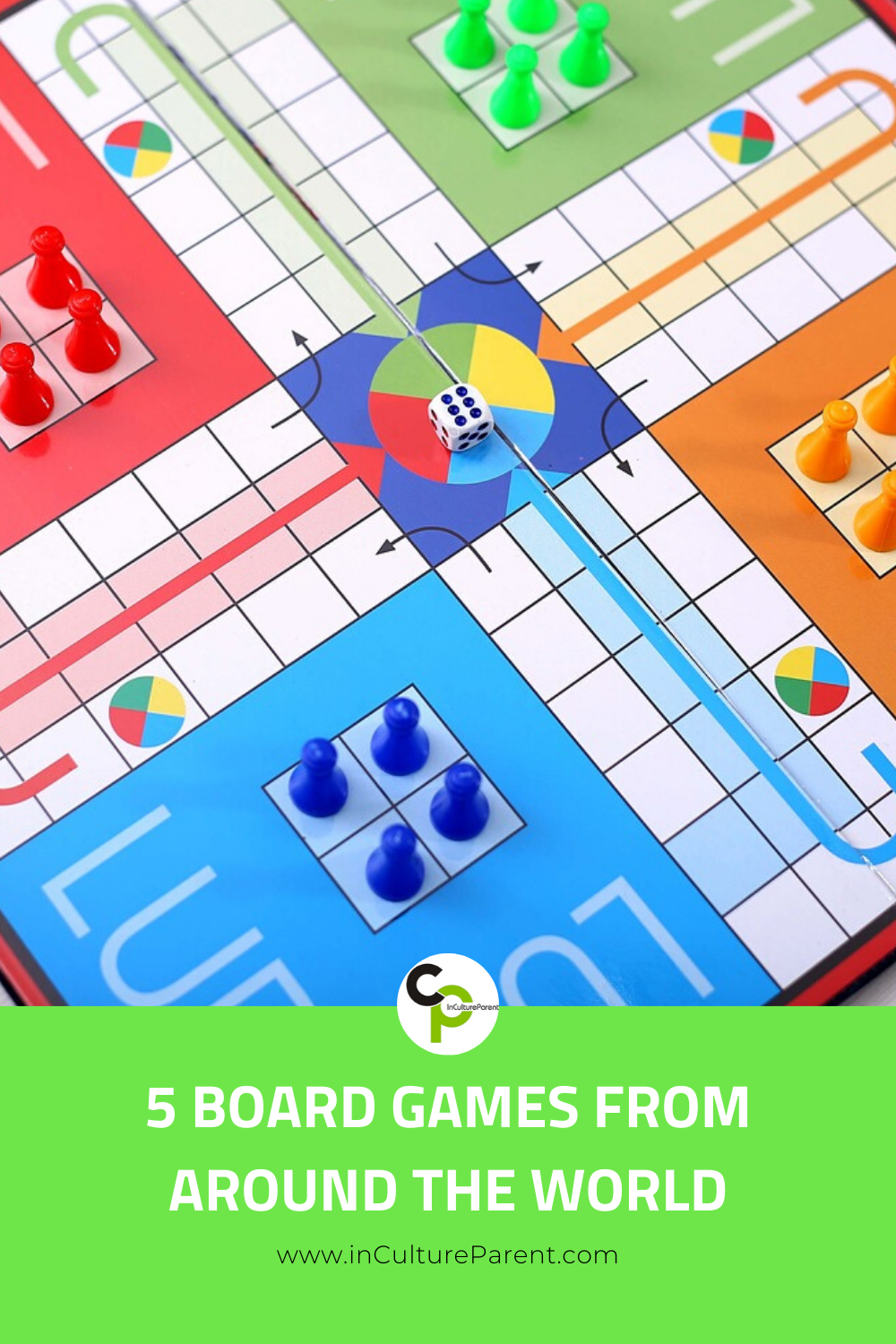 5 Board Games from Around the World Pin